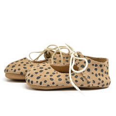 Cheetah - Lace-Up Mary Jane - Soft Sole