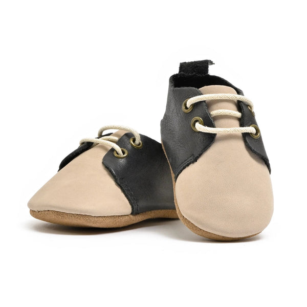 Saddle - Premium Leather Oxfords - Soft Sole