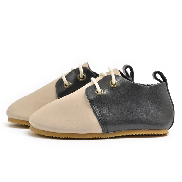 Saddle - Premium Leather Oxfords - Hard Sole
