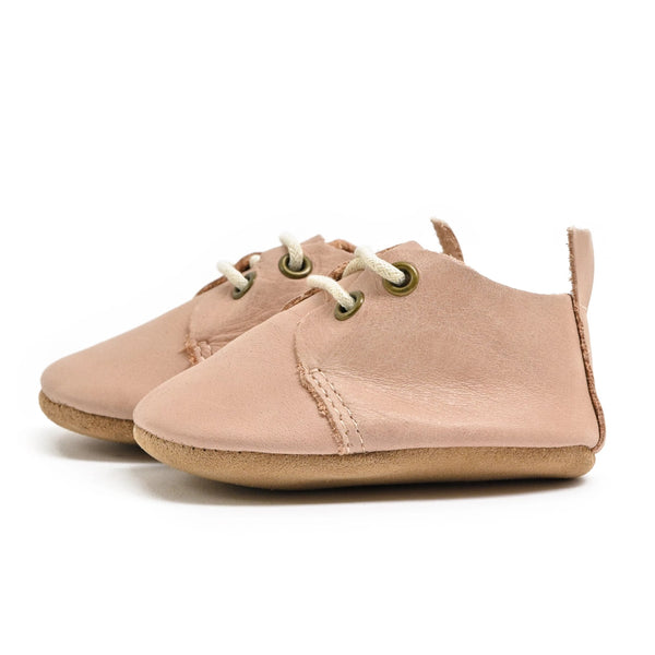 Blush - Premium Leather Oxfords - Soft Sole