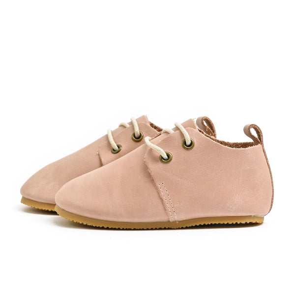 Blush - Premium Leather Oxfords - Hard Sole