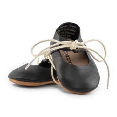 Black - Lace-Up Mary Jane - Soft Sole