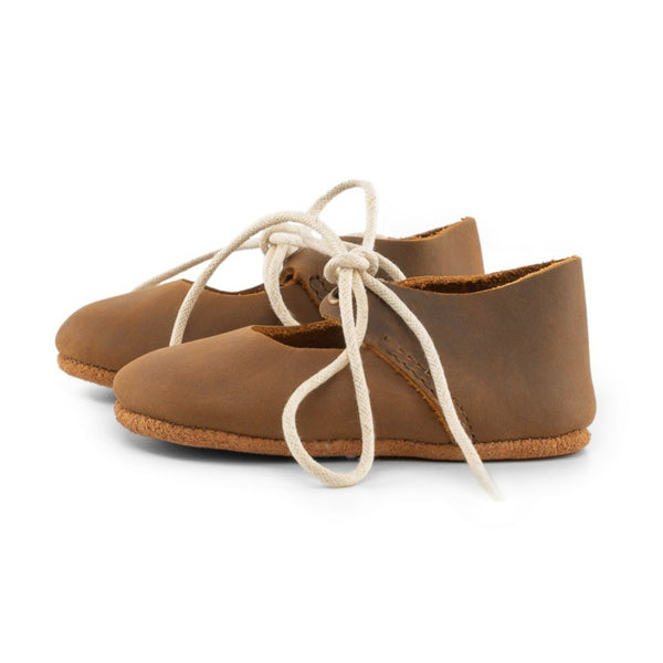 Brown - Lace-Up Mary Jane- Soft Sole