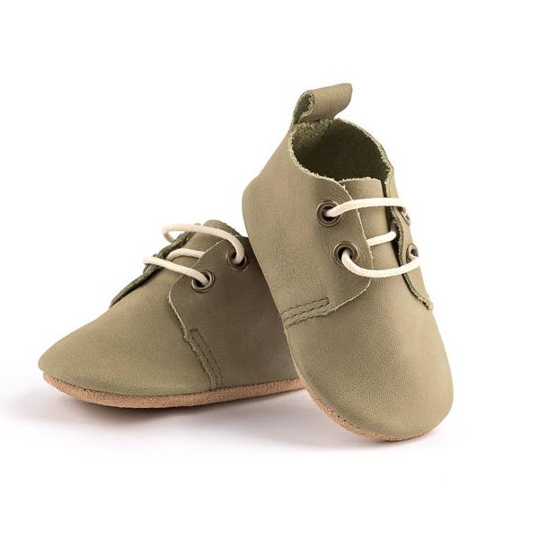 Olive Oxford - Top Grain - Soft Sole