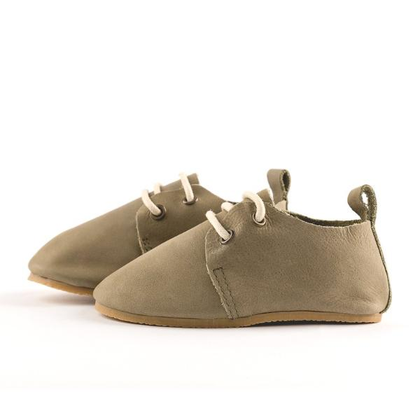 Olive - Premium Leather Oxfords - Hard Sole