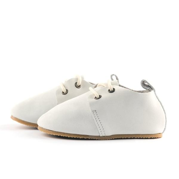 Dove - Premium Leather Oxfords - Hard Sole