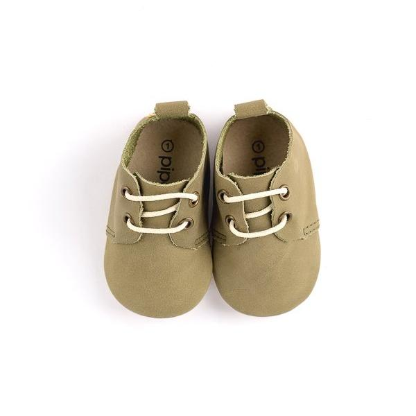 Olive - Premium Leather Oxfords - Soft Sole