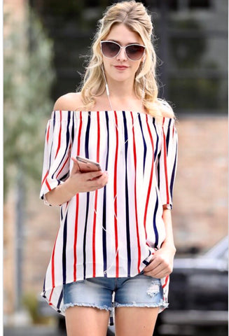 Multi-Stripe Top