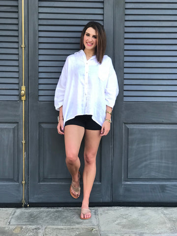 White Linen Blouse