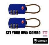 Compact Technologies TSA Travel Luggage Lock (two pack)