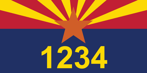 "Arizona State Flag Address Plaque - 12"" x 6"""