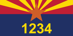 "Arizona State Flag Address Plaque - 7"" x 3.5"""
