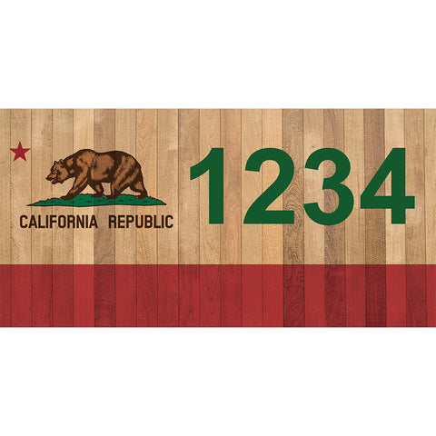 "California Bear Address Plaque - 12"" x 6"""