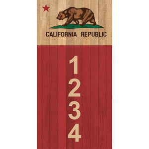 "California Bear Address Plaque - 3.5"" x 7"""