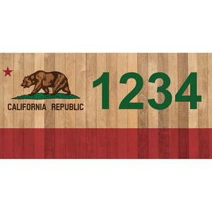 "California Bear Address Plaque - 7"" x 3.5"""