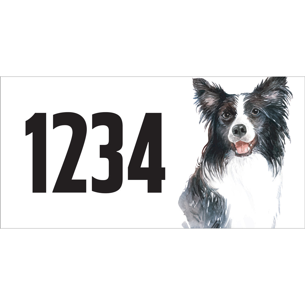 "Boder Collie Address Plaque - 12"" x 6"""