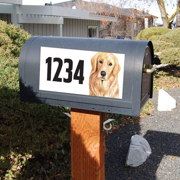 "Golden Retriever Address Plaque - 12"" x 6"""