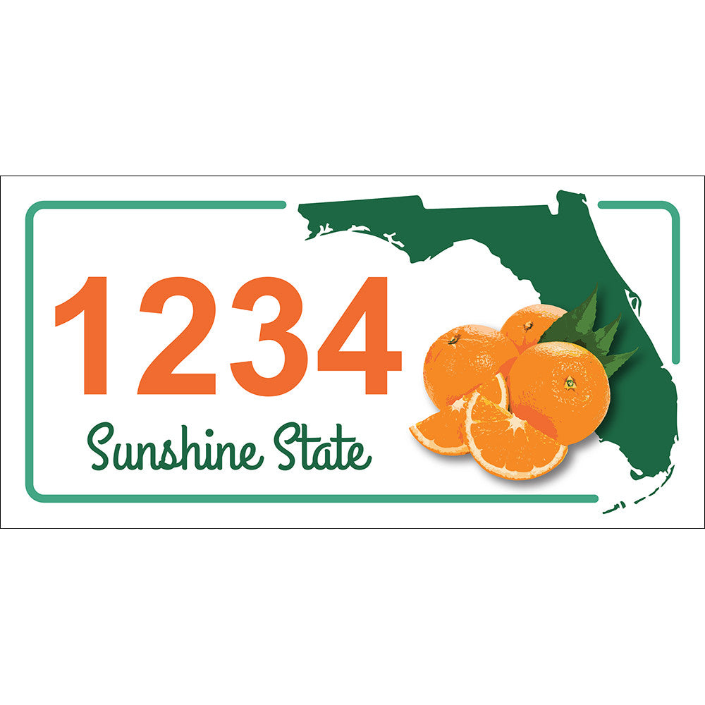 "Florida State Address Plaque - 12"" x 6"""