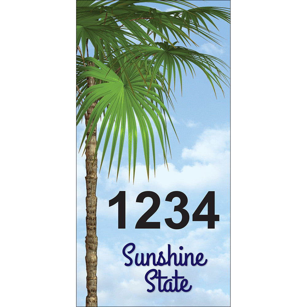 "Florida Palm Trees Address Plaque - 3.5"" x 7"""