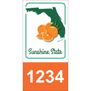 "Florida State Address Plaque - 3.5"" x 7"""