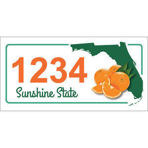 "Florida State Address Plaque - 7"" x 3.5"""