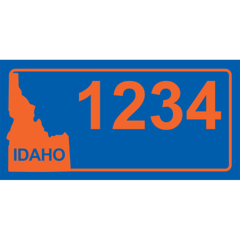 "Idaho BSU Blue Address Plaque - 12"" x 6"""