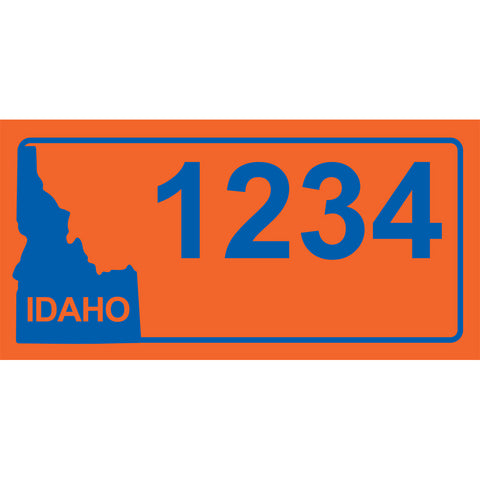 "Idaho BSU Orange Address Plaque - 12"" x 6"""