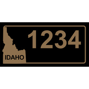 "Idaho Black Address Plaque - 12"" x 6"""