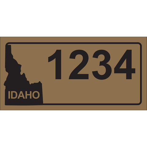 "Idaho Gold Address Plaque - 12"" x 6"""