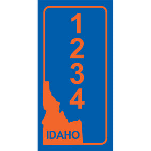 "Idaho BSU Blue Address Plaque - 3.5"" x 7"""
