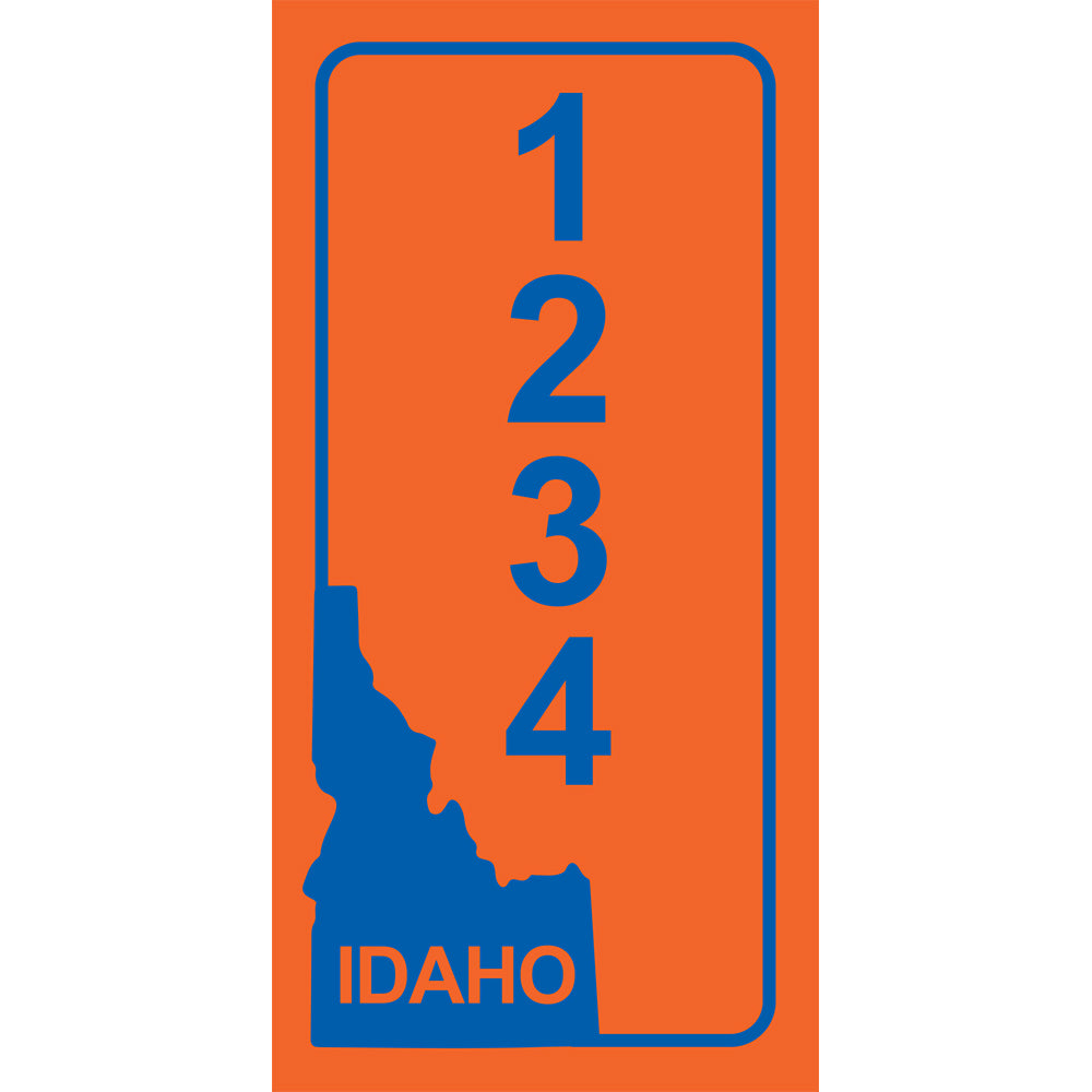 "Idaho BSU Orange Address Plaque - 3.5"" x 7"""