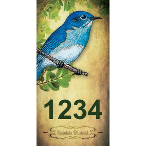"Mountain Bluebird Address Plaque - 3.5"" x 7"""