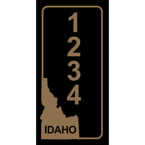 "Idaho Black Address Plaque - 3.5"" x 7"""
