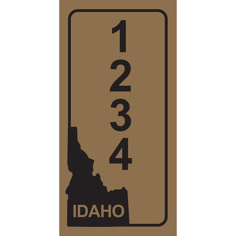 "Idaho Gold Address Plaque - 3.5"" x 7"""