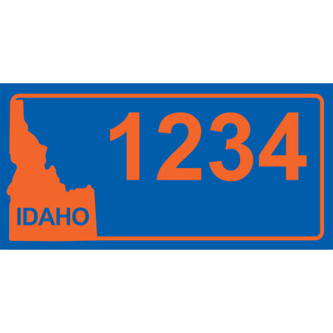 "Idaho BSU Blue Address Plaque - 7"" x 3.5"""