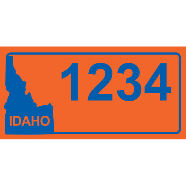 "Idaho BSU Orange Address Plaque - 7"" x 3.5"""