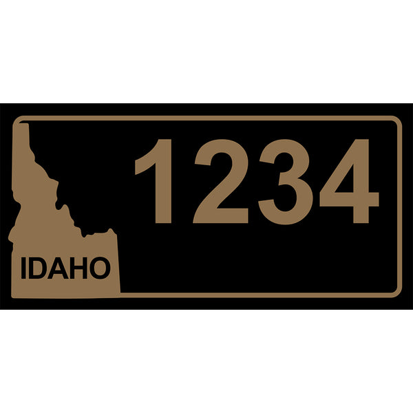 "Idaho Black Address Plaque - 7"" x 3.5"""
