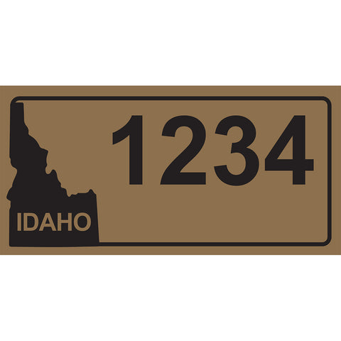 "Idaho Gold Address Plaque - 7"" x 3.5"""