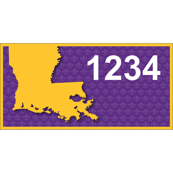 "Louisiana State Address Plaque - 7"" x 3.5"""