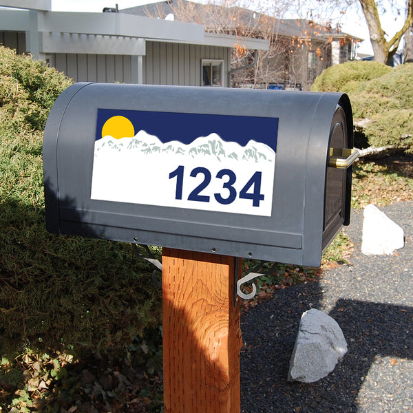 "Mountains Address Plaque - 12"" x 6"""