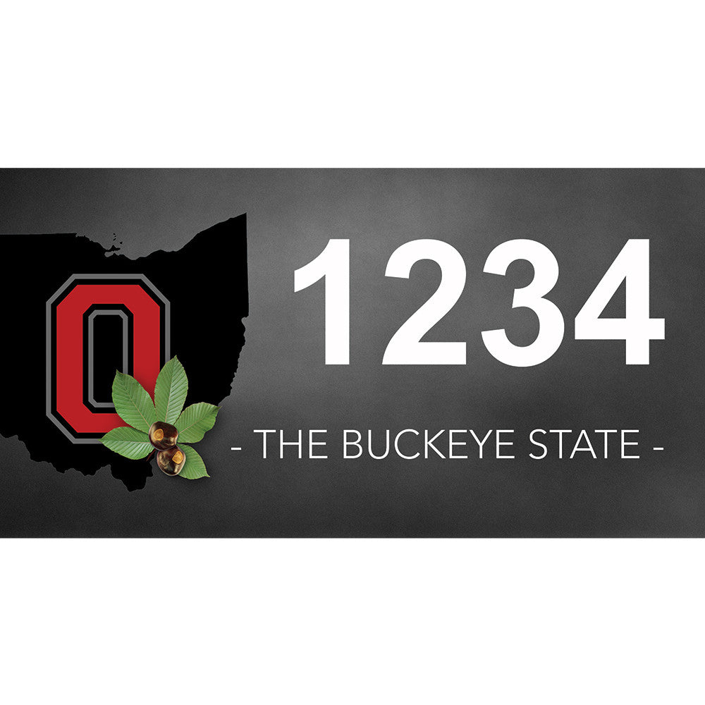 "Ohio Buckeyes Address Plaque - 12"" x 6"""