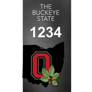 "Ohio Buckeyes Address Plaque - 3.5"" x 7"""