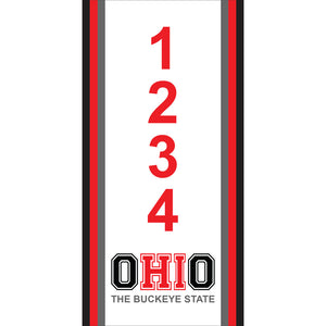 "Ohio Address Plaque - 3.5"" x 7"""