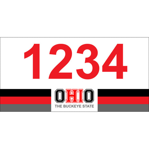 "Ohio Address Plaque - 7"" x 3.5"""