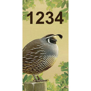 "Quail Address Plaque - 3.5"" x 7"""