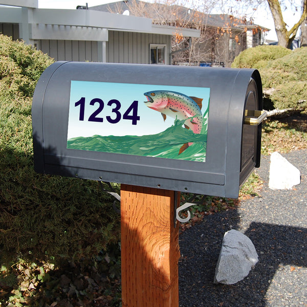 "Rainbow Trout Address Plaque - 12"" x 6"""
