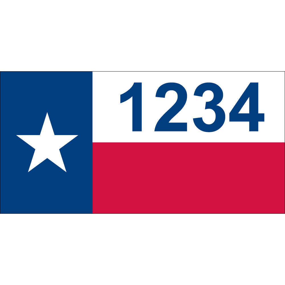"Texas Flag Address Plaque - 12"" x 6"""