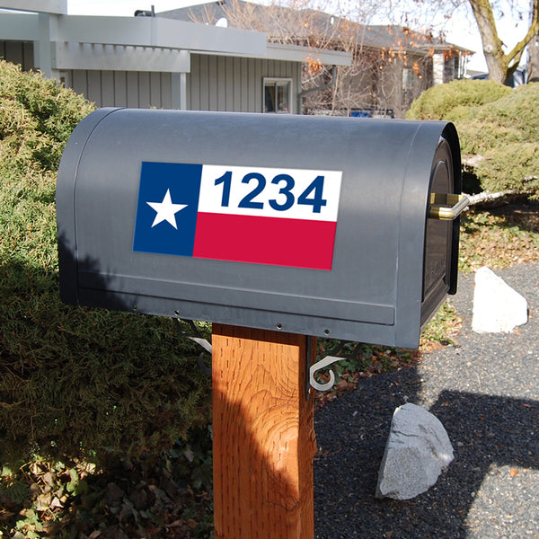 "Texas Flag Address Plaque - 7"" x 3.5"""