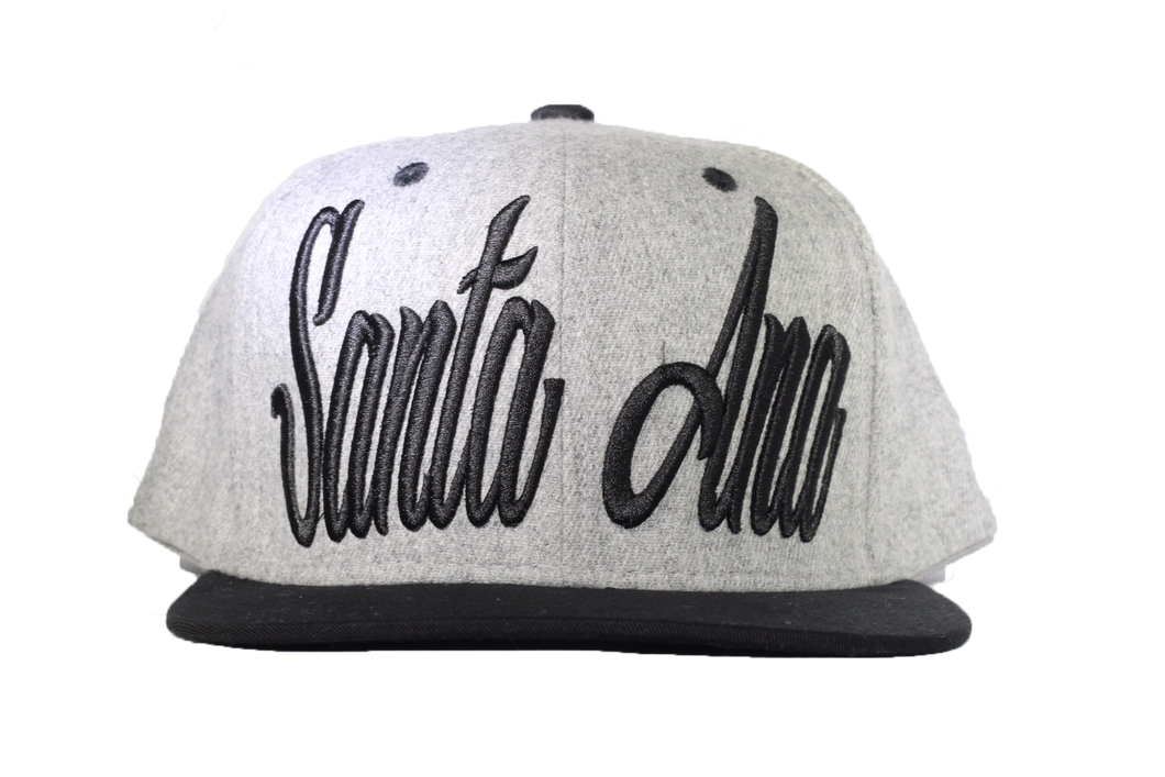 Santa Ana Snapback hat - Black/Grey