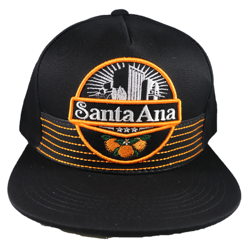Santa Ana Snapback - Orange/Black